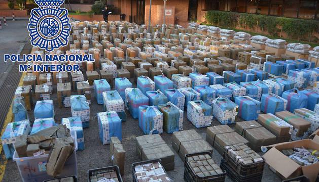 Droga incautada en la operación Nessi