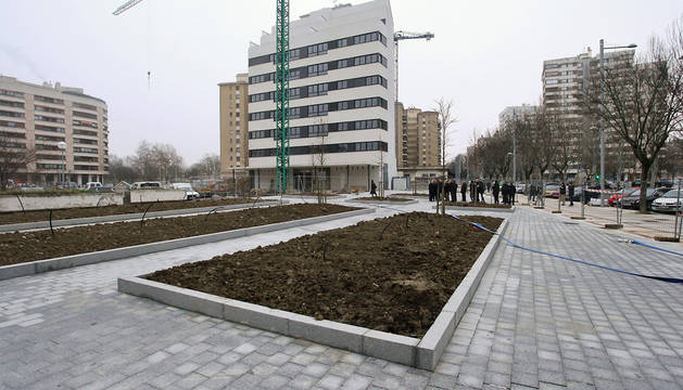La plaza de Iturrama Nuevo.
