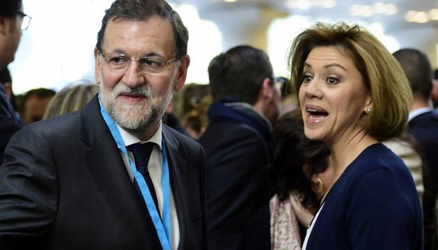 Rajoy y Cospedal, en la Convención Nacional del PP
