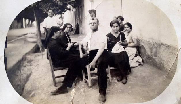 Una foto de su familia en Murcia