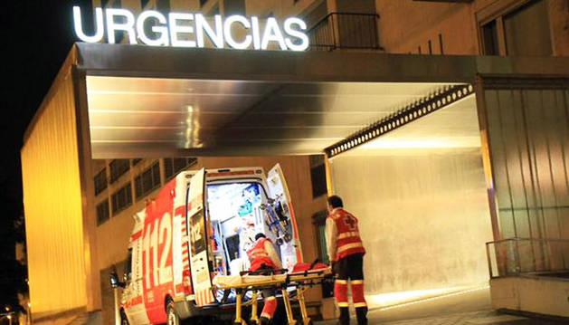 Ambulancia en la que se efectuó el traslado