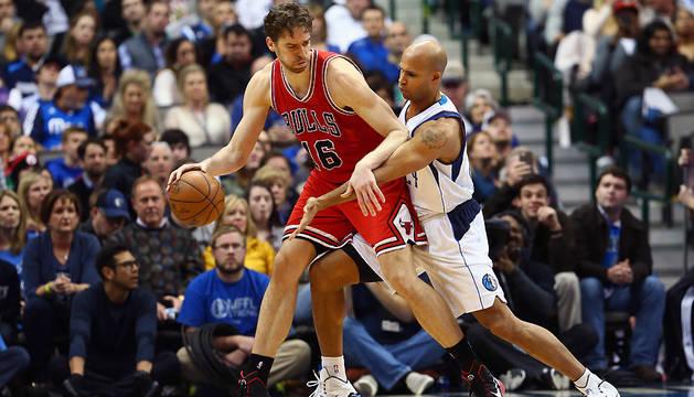 Pau Gasol y Richard Jefferson, durante el encuentro entre los Bulls y los Mavericks