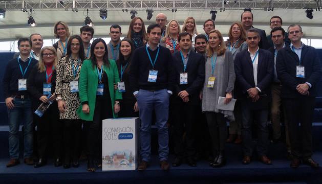 Delegación del PPN en la Convención Nacional de los populares