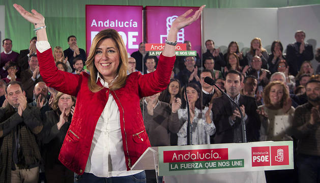 Susana Díaz, en un acto con candidatos socialistas a las municipales