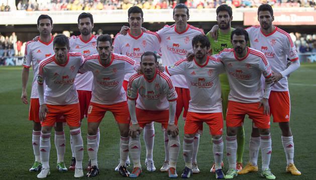 Alineación de Osasuna contra el Barcelona B