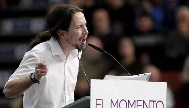 Iglesias, durante su intervención en Valencia