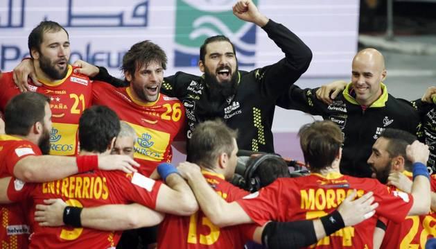La selección, tras vencer a Túnez