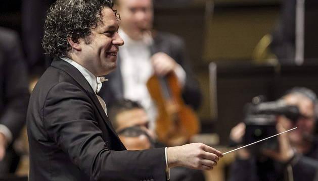 La Orquesta Sinfónica Simón Bolívar (OSSB) venezolana, dirigida por Gustavo Dudamel