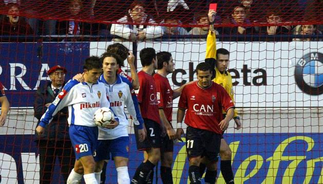 Última victoria del Zaragoza en El Sadar en 2003