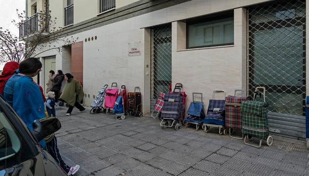 Sede de Cáritas Interparroquial de Estella, en la calle La Corte.
