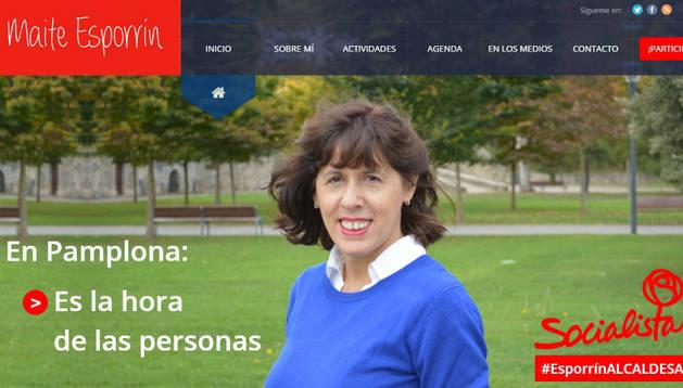 Portada de la nueva web de Maite Esporrín.