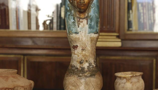 La Guardia Civil recuperó una cabeza que representa a la diosa Sekhmet y otras 35 piezas más.