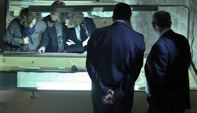 Exposición el pasado mayo en el Archivo de Navarra.