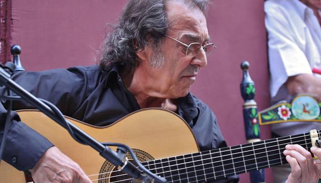 Pepe Habichuela, en la II edición de 'Flamenco on Fire' de Pamplona