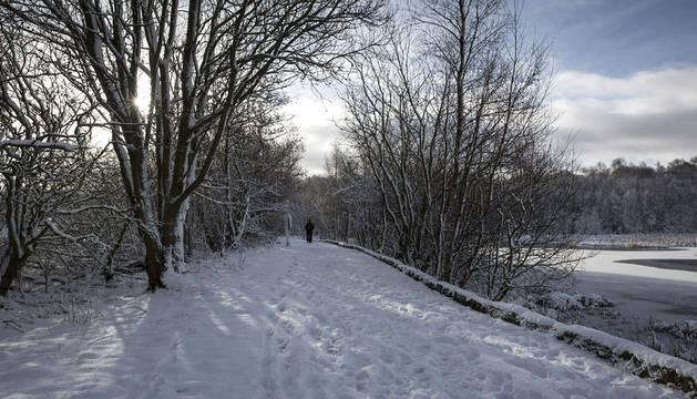 Imagen del temporal de nieve en Europa.