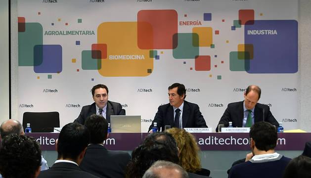 Morcillo, Audera y Fernández, durante la jornada informativa