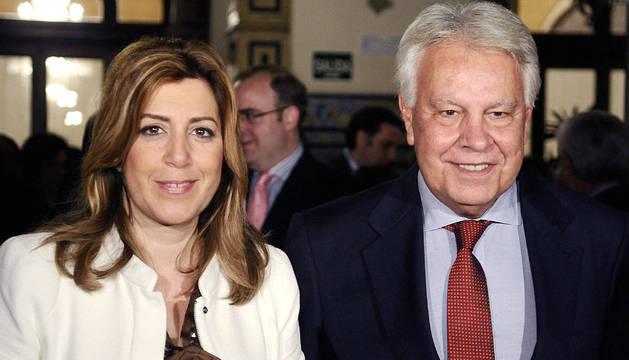 Díaz y González, a su llegada a un acto en Sevilla este jueves.
