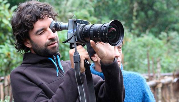 Mateo Gil, en el comienzo del rodaje.