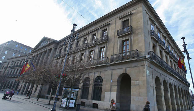 Palacio de Navarra, en la calle Carlos III.