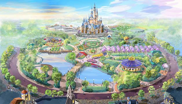 Recreación del nuevo parque de ocio de Disney