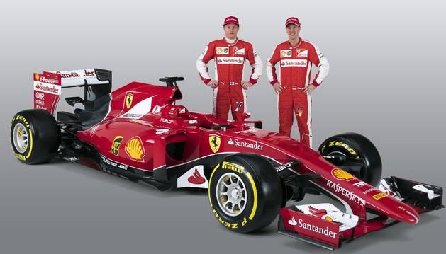 Raikkonen y Vettel, con el nuevo monoplaza