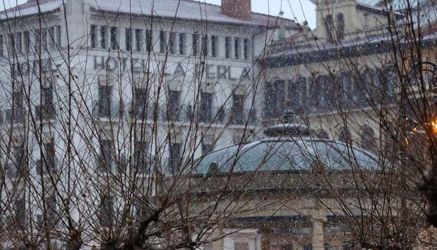 El agua deja paso a más frío y a la nieve este domingo en Navarra