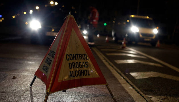 En un control de drogas de la Policía Foral, en diciembre de 2014