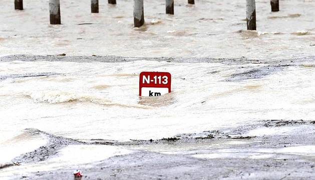 Desbordamiento del Ebro en Castejón a principios de febrero.