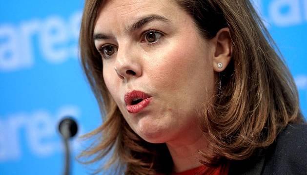 La vicepresidenta del Gobierno ha presidido la reunión de la gestora del PPN y después ha acudido al Mercado del Ensanche