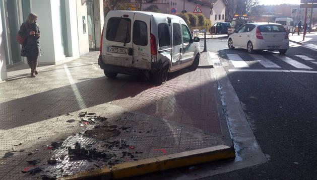Imagen de algunas de las consecuencias del accidente