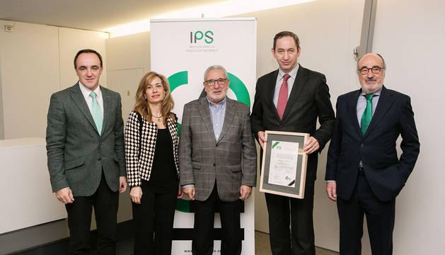 Javier Esparza, Gema Gaspar, Gregorio Galilea, Felix San Miguel y José Cabrera