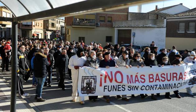 Imagen de la manifestación que los vecinos protagonizaron contra el proyecto en enero