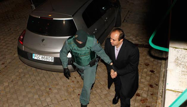Iñaki Gil, cuando fue detenido en noviembre de 2012.