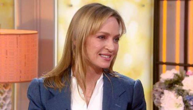 Imagen del programa de televisión al que acudió Uma Thurman