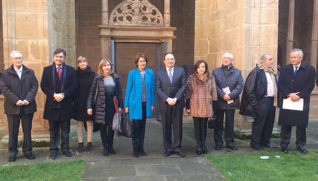 La Presidenta Barcina ha asistido en Nájera a la reunión del Patronato de Santa María la Real