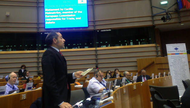El consejero, en su intervención ante el pleno del Comité de las Regiones