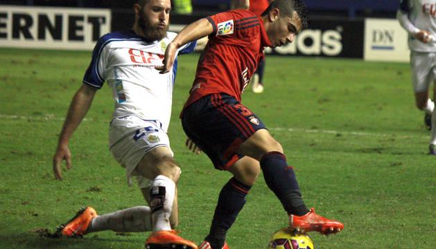 Imágenes del encuentro correspondiente a la Jornada 25 de la Liga Adelante, temporada 2014/2015, disputado entre Osasuna y Llagostera en El Sadar.