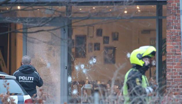 Exterior del centro donde se produjo el tiroteo en Copenhague.