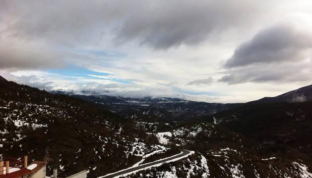 El Pirineo navarro, en alerta amarilla por nevadas.