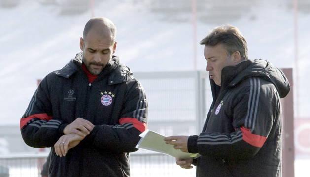 Pep Guardiola y Domenec Torrent