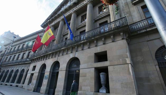 Vista del exterior del Palacio de Navarra, sede de la Administración foral.