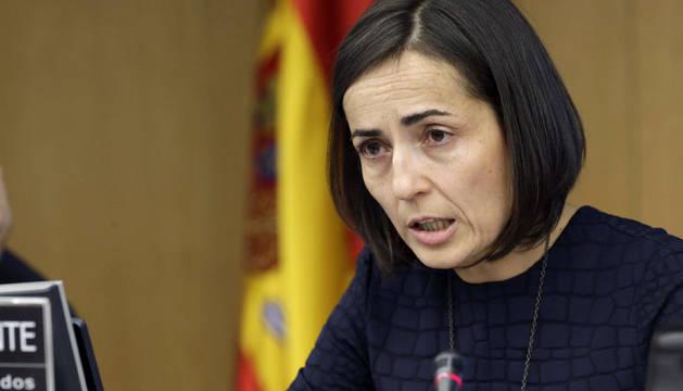 a directora general de Tráfico, María Seguí, comparece ante la Comisión de Seguridad Vial del Congreso