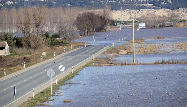 La punta de la crecida del Ebro no aumenta los daños ya originados