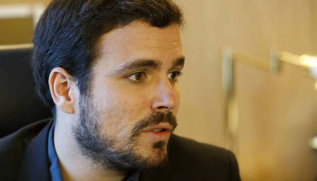 El candidato de IU al Gobierno, Alberto Garzón