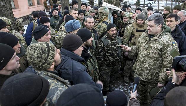 Poroshenko, este miércoles en Artiómovsk.