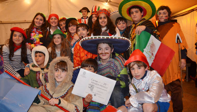 Un concurso eligió los mejores disfraces del carnaval de Los Arcos