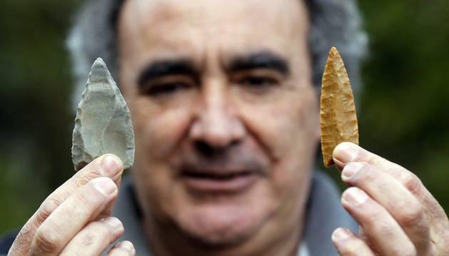 José Aurelio García Munua, experto en arqueología experimental