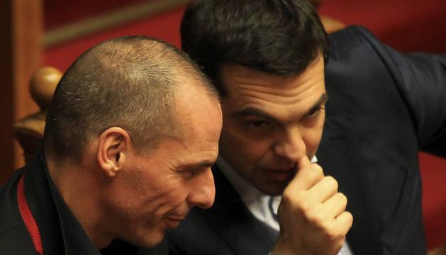 Yanis Varufakis y Tsipras.