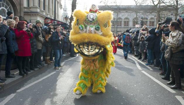 El Año Nuevo chino hace parada en la cosmopolita Londres