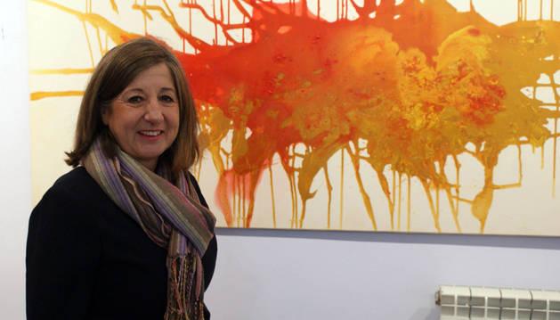 La cirbonera Beatriz Chivite muestra su obra en Cascante